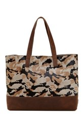 Ugg Finn Leather And Genuine Calf Hair Tote Multi