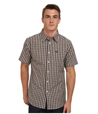 Matix Clothing Company Strata Short Sleeve Woven Top Grey Men's Short Sleeve Button Up Gray