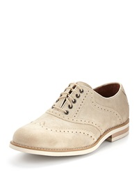 Donald J Pliner Clay Suede Lace Up Oxford Light Tan