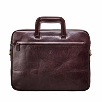 Maxwell Scott Bags Tutti Handcrafted Fine Leather Document Case Chocolate Brown