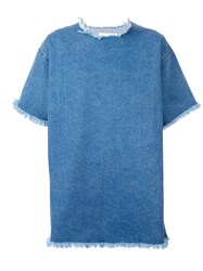 Marques Almeida Marques'almeida Denim T Shirt Blue