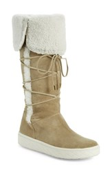 Women's Moncler 'Madeleine Stivale' Genuine Shearling Tall Boot