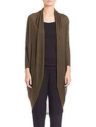 Eileen Fisher Knit Long Cocoon Cardigan Surplus