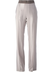 Haider Ackermann 'Cynapium' Wide Leg Trousers Nude And Neutrals