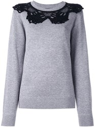 Marc Jacobs Crochet Collar Jumper Grey