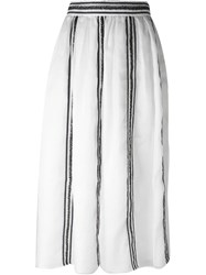Jupe By Jackie Embroidered Midi Skirt White