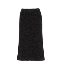 Calvin Klein Cheryl Metallic Knitted Skirt Black