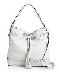Milly Astor Whipstitch Bucket Bag White