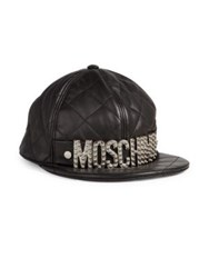 Moschino Quilted Logo Baseball Cap Black