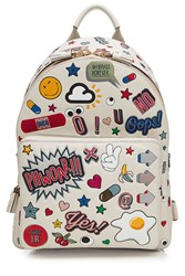 Anya Hindmarch All Over Stickers Mini Leather Backpack Multicolor