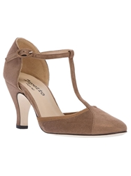 Repetto 'Baya' T Strap Pump Nude And Neutrals