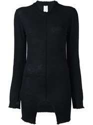 Damir Doma Frayed Detailing Knitted Blouse Black