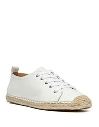 Franco Sarto Wilcox Leather Lace Up Flats White