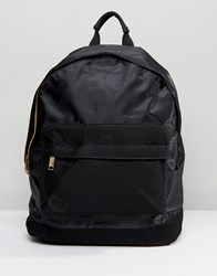 Mi Pac Satin Mesh Black Backpack Black