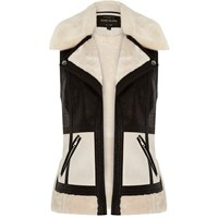 River Island Womens Light Cream Colour Block Gilet