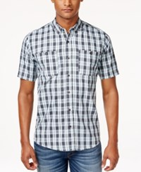 Ezekiel Men's Macklemore Plaid Short Sleeve Shirt Light Blue