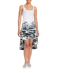 Marc New York Roundneck Hi Lo Dress White Black