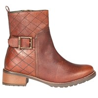 Barbour Lambeth Block Heeled Ankle Boots Chestnut