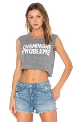 Private Party Champagne Problems Crop Muscle Tank Gray