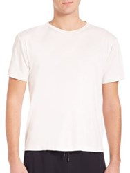 Public School Asymmetrical Back Jersey Tee White