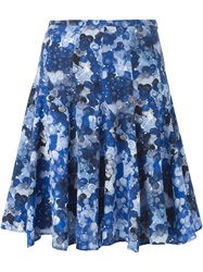 Cacharel Flared Bubble Print Skirt Blue