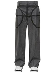 Givenchy Wide Leg Wool Flannel Trousers