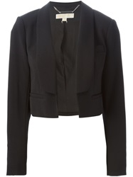 Michael Michael Kors Shawl Lapel Cropped Blazer Black