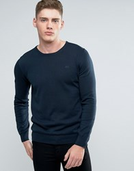 Lindbergh Jumper In Dark Blue Cotton Dk Blue Navy
