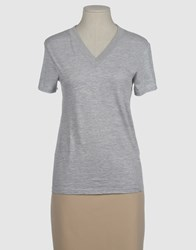 G750g Topwear Short Sleeve T Shirts Women Light Grey
