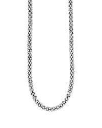 Lagos Sterling Caviar Silver Rope Chain Necklace 16