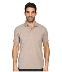 Prana Brock Polo Mud Men's Clothing Taupe