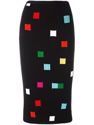 Iceberg Square Pattern Skirt Black
