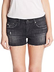 Ag Adriano Goldschmied Relaxed Jean Shorts Washed Black