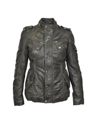 Forzieri Dark Brown Leather Jacket W Quilted Lining