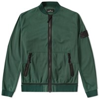 Stone Island Shadow Project Jersey R 3L Zip Bomber Green