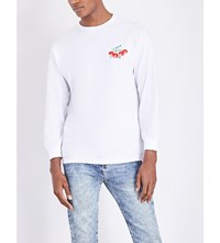 Obey Cherry Cotton Jersey Top White