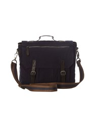 White Stuff Mens Stripe Tape Satchel Navy