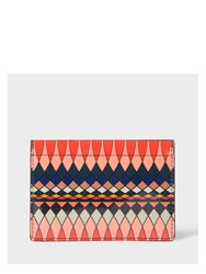 Paul Smith No.9 Multi Coloured Patent Leather Card Holder Pink