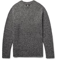 Paul Smith Melange Merino Wool Blend Boucle Sweater Gray