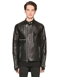 Diesel Black Gold Smooth Leather Biker Jacket