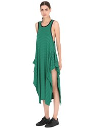 Stella Mccartney Striped Cotton Jersey Maxi Dress