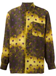 Jean Paul Gaultier Vintage Polka Dot Printed Shirt Yellow And Orange