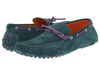 Etro Suede Driving Mocassin Sea Green Men's Shoes
