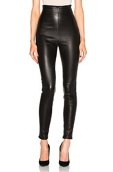 Theperfext Fwrd Exclusive Jessica High Waisted Leather Leggings In Black