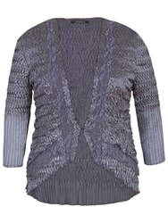 Chesca Pleat Lace And Satin Shrug Steel