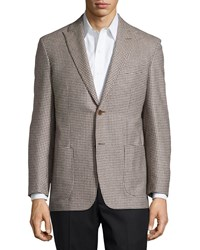Ike Behar Houndstooth Sport Coat Tan