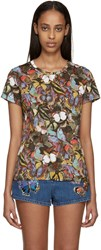 Valentino Multicolor Butterfly T Shirt
