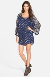 Angie Paisley Print Shift Dress Online Only Blue Print
