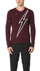 Marc Jacobs Flash Sweater Wine Combo