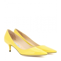 Jimmy Choo Aza Patent Leather Pumps Yellow